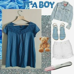 💙 { MOTHERHOOD } | Oh Baby Blue Maternity Top